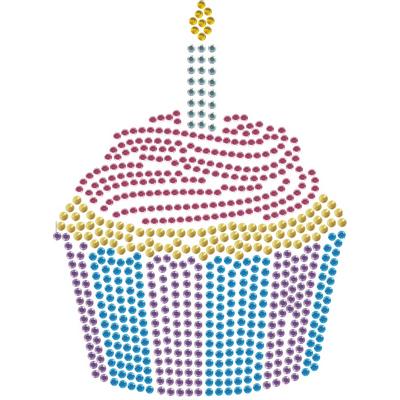 Rhinestone Birthday Birthday Cake Rhinestone